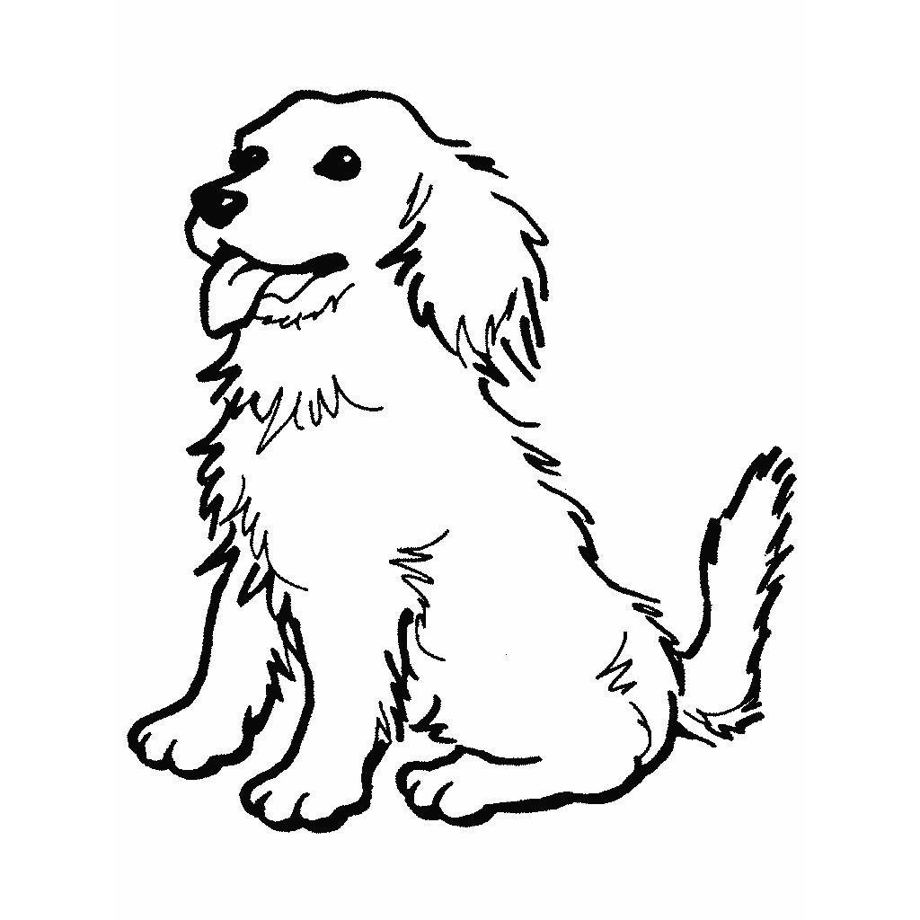 Dibujos de perros para pintar. Dibujos de perros para colorear