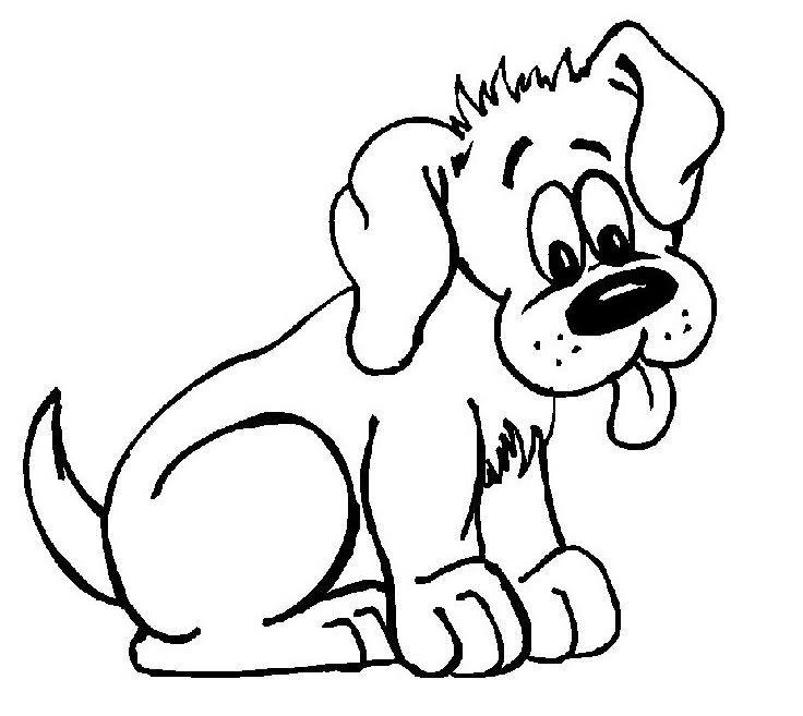 Dibujos de perros para colorear. PerrosAmigos.com