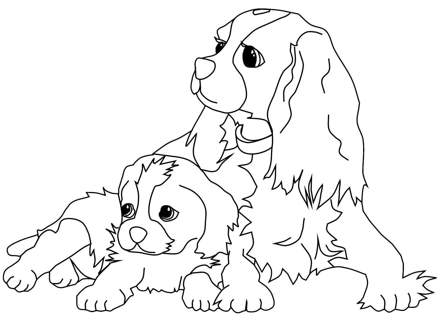 Dibujos de perros para colorear. Dibujos de razas de perros para